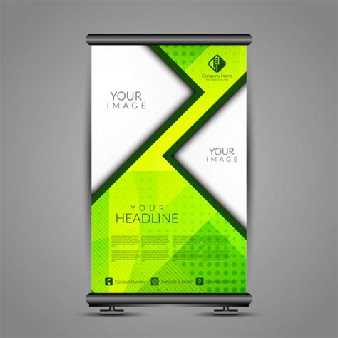 templates for roll up banners modern roll up banner stand template vector free download