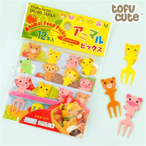 Bento Fork Set Daiso Set Garpu Bento 1 buy kawaii animal bento food forks set of 12 at tofu