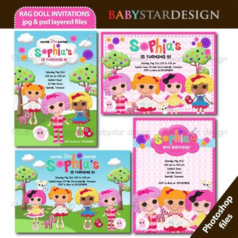 lalaloopsy party invitations template best template rag doll invitation templates mygrafico lalaloopsy
