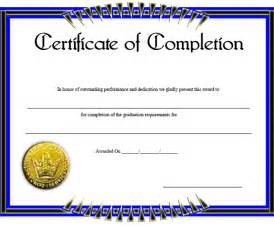 Template Certificate Of Completion by Blank Certificate Of Completion Template Helloalive
