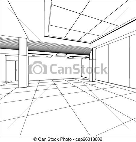 eps format office vector clipart of outline office room eps 10 vector