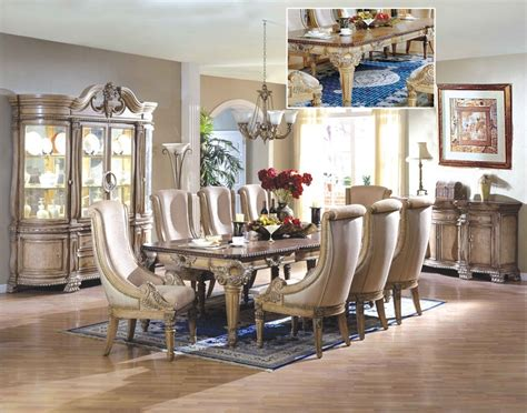furniture dining room sets home furniture weston white wash formal dining room set