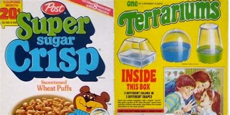 Cereal Sweepstakes - 20 classic cereal box prizes super sugar crisp jackson 5 record guff