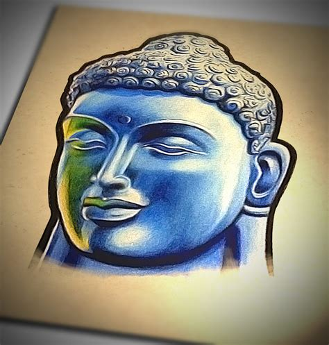 badfish tattoo amazing 3d buddha design by badfish