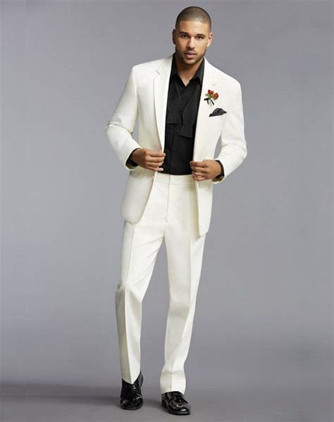 Mens Wear House by The S Wearhouse 174 Notch Lapel Ivory Tuxedo Wedding
