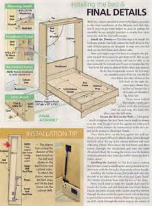 Woodworking Plans Platform Bed Storage by Murphy Bed Plans Woodarchivist