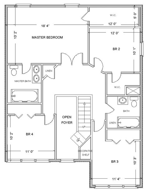 House Plan Layouts | simple small house floor plans free house floor plan