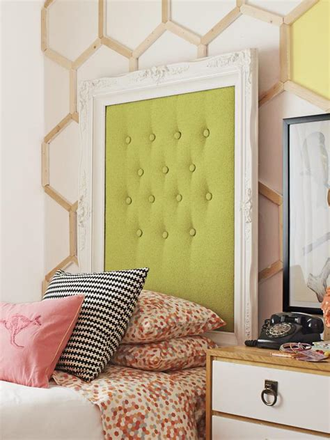 how to make a picture frame headboard hgtv