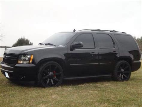 suv blacked out 2010 chevrolet tahoe blacked out cars and trucks
