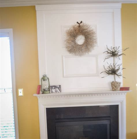 Images Of Moldings On Wall Over White Fireplace Office