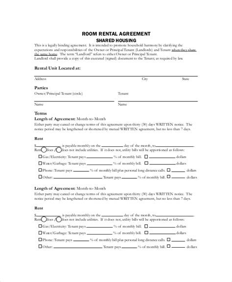 simple rental agreement template word basic rental agreement 10 free word pdf documents