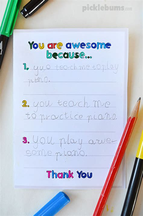 how to make student card printable thank you cards to make with your