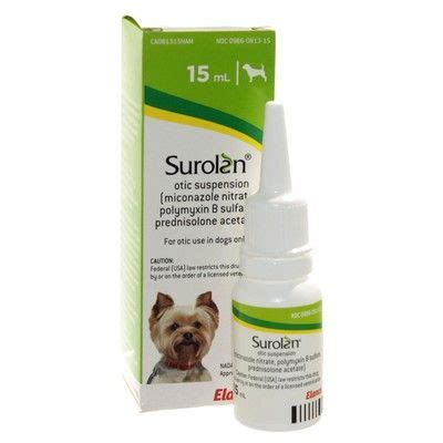 surolan for dogs surolan otic suspension for ear infections in dogs