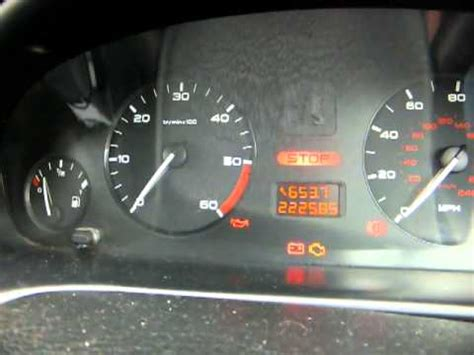 peugeot 306 stop warning light peugeot 406 hdi instrument cluster dropping out