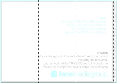 tri fold template word 28 images doc 958677 blank