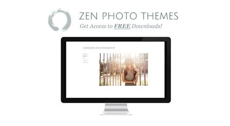 zen theme layout elegant and clean design zen photo themes 187 high quality