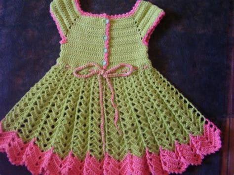vestido nia crochet vestido para ni 241 a de ganchillo hilos de algodon botones de