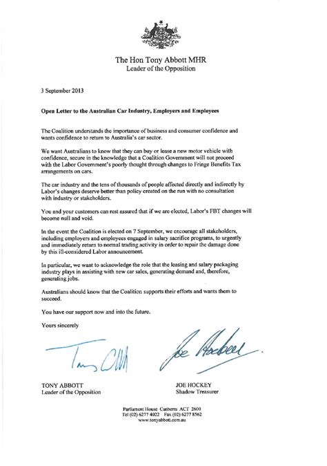 up open letter open letter from the hon tony abbott mhr 171 roger montgomery