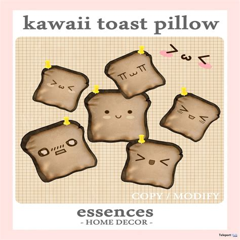 Toast Home Decor by Kawaii Toast Pillow Gimme Gacha Gift By Essences
