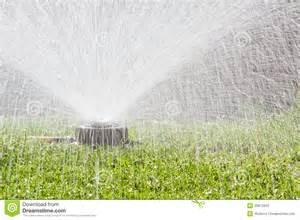 Backyard Sprinkler System Water Sprinkler Stock Photos Image 30872053