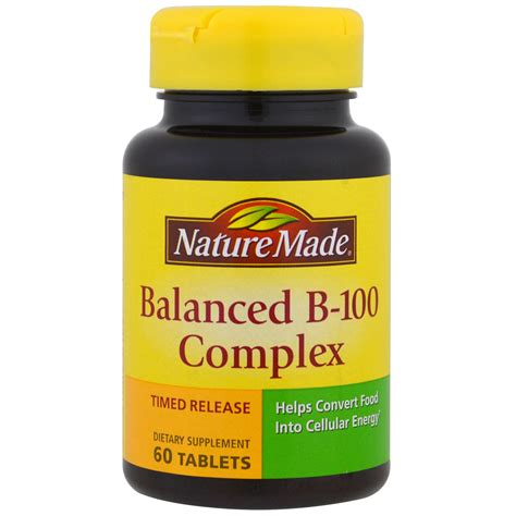 Nature S Health Collagen Complex nature made balanced b 100 complex 60 tablets iherb