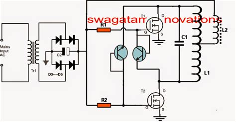 induction heater diagram simple induction heater circuit plate cooker circuit
