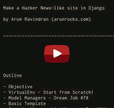 django tutorial hacker news building a hacker news clone in django part 1 183 arun