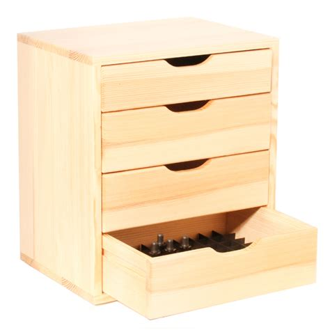Wooden Drawer Units 4 drawer storage unit