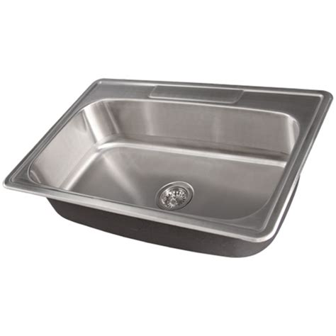 Overmount Kitchen Sinks Stainless Steel Ticor S994 Overmount Stainless Steel Single Bowl Kitchen Sink Accessories