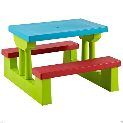 kids benches kids childrens picnic bench table set outdoor furniture ebay