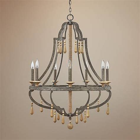 Fredrick Ramond Cordoba 30 Quot Wide Distressed Iron Distressed Chandeliers