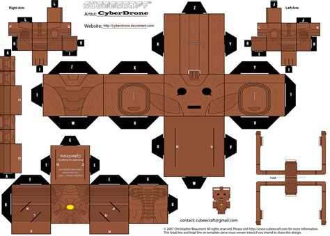 Cubee Papercraft - cubee cyberman wooden by cyberdrone on deviantart