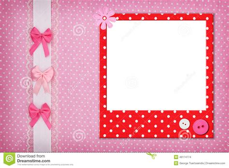 pink polka dot with frame background labs photo frame on dots background stock photo image 49174774