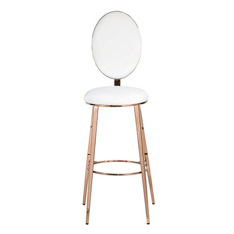 Gold And White Stool by Valentina Gold Bar Stool On Rent For Special Events