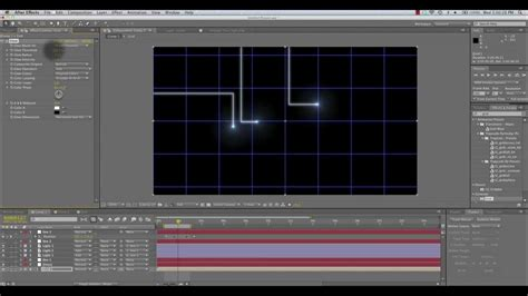 tutorial opening film after effect animated tron lines tutorial for after effects youtube