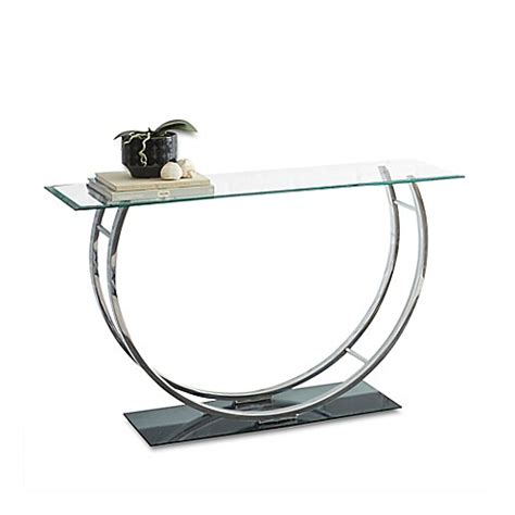 bed bath and beyond sofa table steve silver co natalie sofa table in chrome bed bath