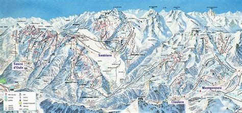 banchetta sestriere sestri 232 re via lattea ski resort guide lagenkarte
