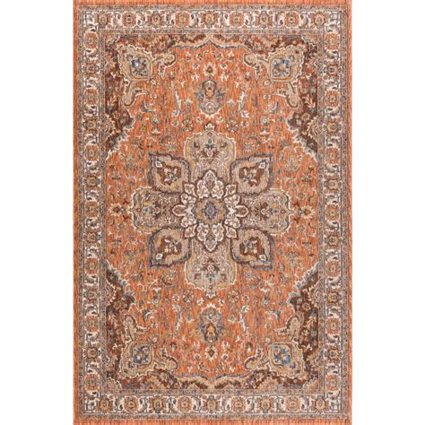 area rugs home depot 5x8 tayse rugs fairview spice 5 ft 3 in x 7 ft 3 in area rug fvw3322 5x8 the home depot