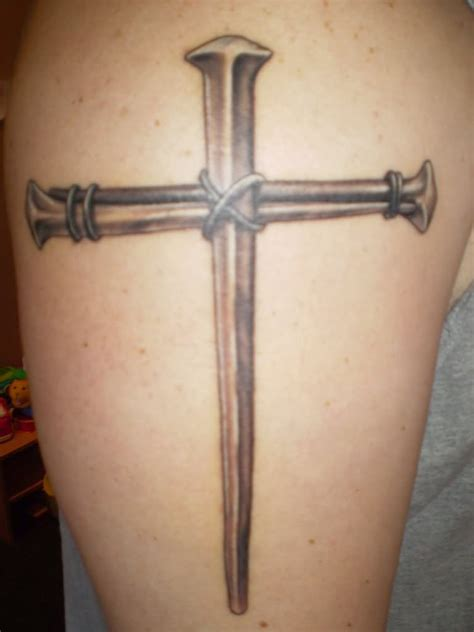 nail cross tattoo 75 cross tattoos