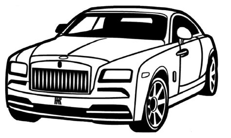 cartoon rolls royce how to draw a rolls royce как нарисовать rolls royce