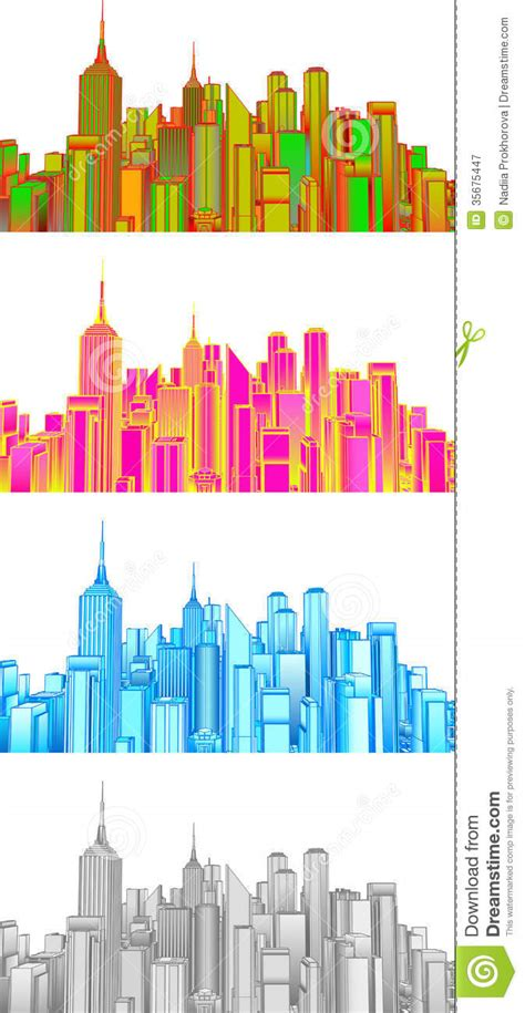 stock vector graphics royalty free vectors set illustration of cityscape stock vector image 35675447