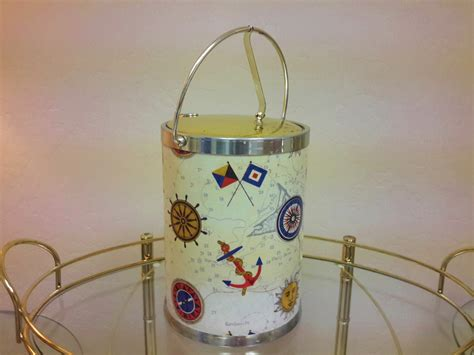 nautical barware nautical barware ice bucket mid century by vintagesouthwest