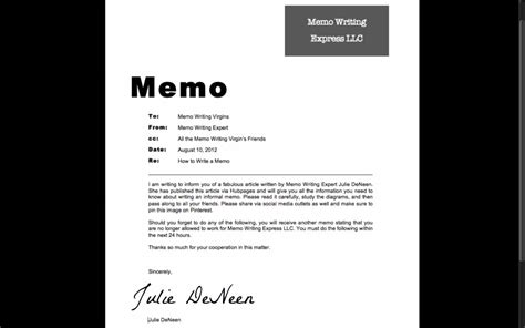 how to write a memo to employees how to write an informal memo toughnickel