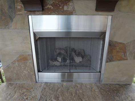 monessen 4 inch stainless steel fireplace for 36