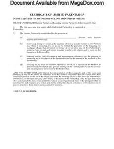 certificate of partnership template alberta certificate of limited partnership forms