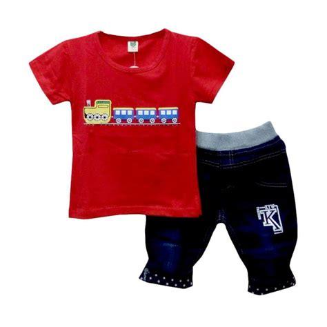 Baju Setelan Hi Mm Denim Anak jual import motif setelan baju anak laki laki harga kualitas terjamin