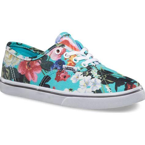 Vans Authentic Floral vans authentic lo pro floral youth shoes