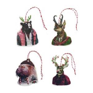 animal crew christmas decoration set la la land cards