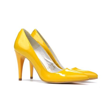 Sneaker Wedges Yellow Trendy Elegan stylish shoes 1246 patent yellow affordable prices leather