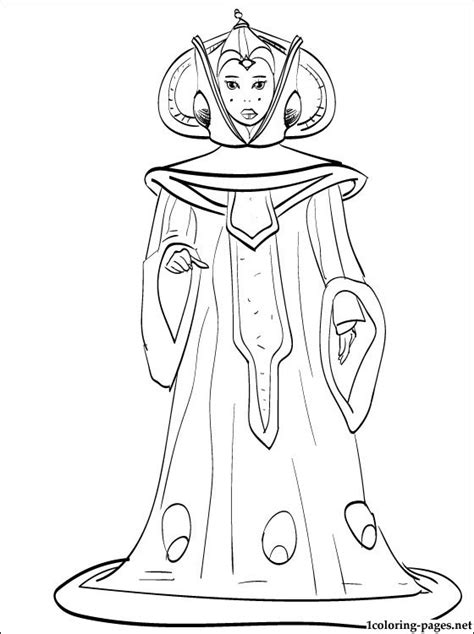 star wars queen amidala coloring page free coloring pages